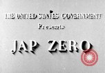 Image of Japanese Mitsubishi A6M Zero United States USA, 1943, second 6 stock footage video 65675043014