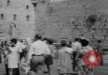 Image of Jewish New Year at Western Wall Jerusalem Israel, 1967, second 4 stock footage video 65675043048