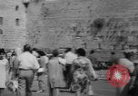 Image of Jewish New Year at Western Wall Jerusalem Israel, 1967, second 5 stock footage video 65675043048
