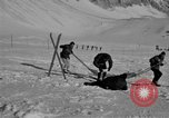 Image of Ski patrol personnel Garmisch-Partenkirchen Germany, 1965, second 8 stock footage video 65675043207