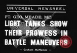 Image of 66th United States infantry tanks Fort Meade Maryland USA, 1938, second 1 stock footage video 65675043242