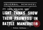 Image of 66th United States infantry tanks Fort Meade Maryland USA, 1938, second 7 stock footage video 65675043242