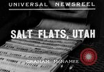 Image of Salt Flats Utah United States USA, 1935, second 3 stock footage video 65675043319