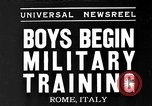 Image of Youth undergo training Rome Italy, 1935, second 1 stock footage video 65675043333