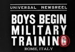 Image of Youth undergo training Rome Italy, 1935, second 3 stock footage video 65675043333