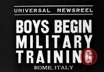 Image of Youth undergo training Rome Italy, 1935, second 4 stock footage video 65675043333