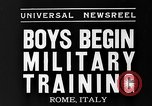 Image of Youth undergo training Rome Italy, 1935, second 5 stock footage video 65675043333