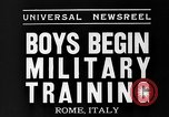 Image of Youth undergo training Rome Italy, 1935, second 7 stock footage video 65675043333