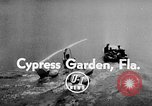 Image of Hydro-Glider Cypress Garden Florida USA, 1955, second 6 stock footage video 65675043381