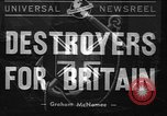 Image of American Destroyers for British Bases United States USA, 1940, second 1 stock footage video 65675043462