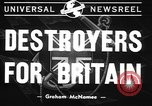 Image of American Destroyers for British Bases United States USA, 1940, second 2 stock footage video 65675043462