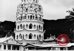 Image of Temples Penang Malaysia, 1937, second 10 stock footage video 65675043494