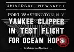 Image of Trans Atlantic seaplane New York United States USA, 1938, second 1 stock footage video 65675043518