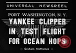 Image of Trans Atlantic seaplane New York United States USA, 1938, second 3 stock footage video 65675043518