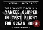 Image of Trans Atlantic seaplane New York United States USA, 1938, second 6 stock footage video 65675043518
