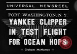 Image of Trans Atlantic seaplane New York United States USA, 1938, second 7 stock footage video 65675043518