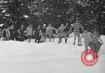Image of bathers swim in icy water Oregon Mount Hood USA, 1938, second 9 stock footage video 65675043530