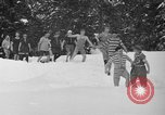Image of bathers swim in icy water Oregon Mount Hood USA, 1938, second 11 stock footage video 65675043530