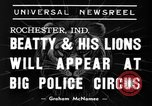 Image of Big Police Circus Rochester Indiana USA, 1938, second 4 stock footage video 65675043531