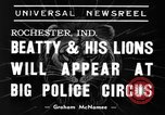 Image of Big Police Circus Rochester Indiana USA, 1938, second 5 stock footage video 65675043531