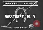 Image of International Polo Cup series Westbury New York USA, 1939, second 1 stock footage video 65675043543
