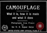 Image of World War I Camouflage France, 1918, second 10 stock footage video 65675043544