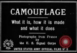 Image of World War I Camouflage France, 1918, second 12 stock footage video 65675043544