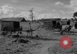 Image of Bullock cart dwellers Phnom Penh Cambodia, 1957, second 5 stock footage video 65675043579