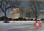 Image of Washington DC Monuments in snow Washington DC USA, 1966, second 1 stock footage video 65675043628