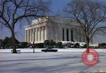 Image of Washington DC Monuments in snow Washington DC USA, 1966, second 2 stock footage video 65675043628