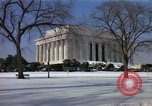 Image of Washington DC Monuments in snow Washington DC USA, 1966, second 4 stock footage video 65675043628