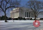 Image of Washington DC Monuments in snow Washington DC USA, 1966, second 5 stock footage video 65675043628