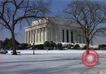 Image of Washington DC Monuments in snow Washington DC USA, 1966, second 6 stock footage video 65675043628