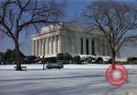 Image of Washington DC Monuments in snow Washington DC USA, 1966, second 7 stock footage video 65675043628