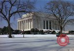 Image of Washington DC Monuments in snow Washington DC USA, 1966, second 8 stock footage video 65675043628