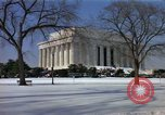 Image of Washington DC Monuments in snow Washington DC USA, 1966, second 11 stock footage video 65675043628