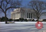 Image of Washington DC Monuments in snow Washington DC USA, 1966, second 12 stock footage video 65675043628