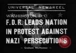 Former President Herbert Hoover and others make a nationwide plea for the Jews facing Nazi brutality in Europe.