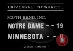 Image of Notre Dame vs Minnesota South Bend Indiana USA, 1938, second 3 stock footage video 65675043747