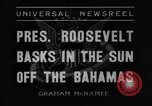 Image of President Franklin Roosevelt Nassau Bahamas, 1936, second 2 stock footage video 65675043760