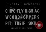 Image of woodchoppers Skytop Pennsylvania USA, 1936, second 4 stock footage video 65675043763
