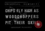 Image of woodchoppers Skytop Pennsylvania USA, 1936, second 5 stock footage video 65675043763