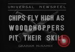 Image of woodchoppers Skytop Pennsylvania USA, 1936, second 9 stock footage video 65675043763
