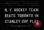 Image of Stanley Cup semi-final series New York United States USA, 1936, second 1 stock footage video 65675043767