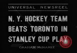 Ice Hockey: New York Americans win game 2 of the 1936 Stanley Cup semi-finals against Toronto Maple Leafs