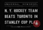 Image of Stanley Cup semi-final series New York United States USA, 1936, second 3 stock footage video 65675043767