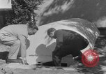Image of Backyard fallout shelter United States USA, 1950, second 12 stock footage video 65675043805