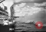 Image of Repairing damaged bow of Italian destroyer Ugolino Vivaldi Italy, 1940, second 1 stock footage video 65675043843