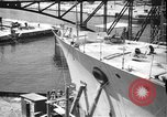 Image of Repairing damaged bow of Italian destroyer Ugolino Vivaldi Italy, 1940, second 2 stock footage video 65675043843