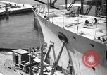 Image of Repairing damaged bow of Italian destroyer Ugolino Vivaldi Italy, 1940, second 3 stock footage video 65675043843